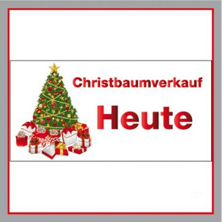 Christbaumverkauf heute