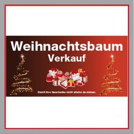Weihnachtsbaumverkauf rot Plane