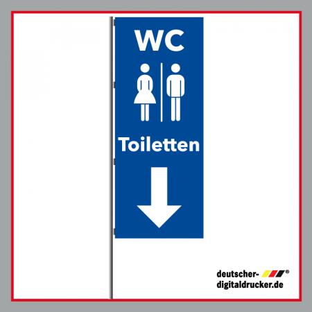 WC Flagge, Festivalflagge, Veranstaltungsfahne