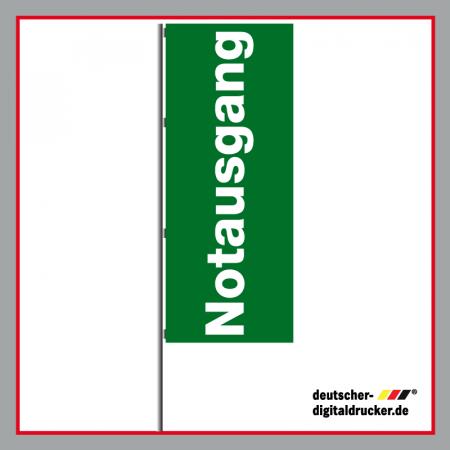 Notausgang Flagge, Notausgang Fahne