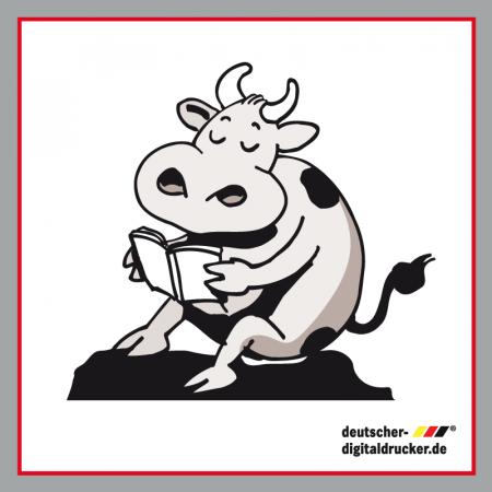 Kuh Gerd, lesende Kuh, Gartenfigur