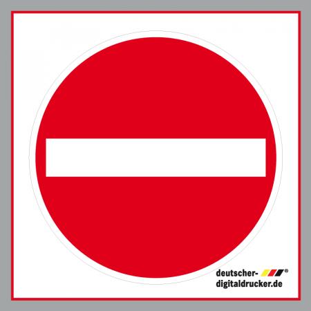 Verkehrsschild bestellen, Einfahrtsverbotsschild, Verkehrszeichen bestellen