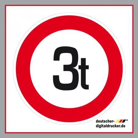 Verkehrszeichen bestellen, Zulässiges Höchstgewicht 3t, Verkehrsschild
