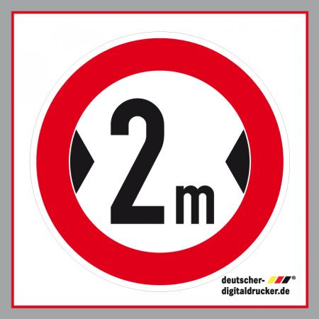 Durchfahrtsbreite 2m, Verkehrsschild