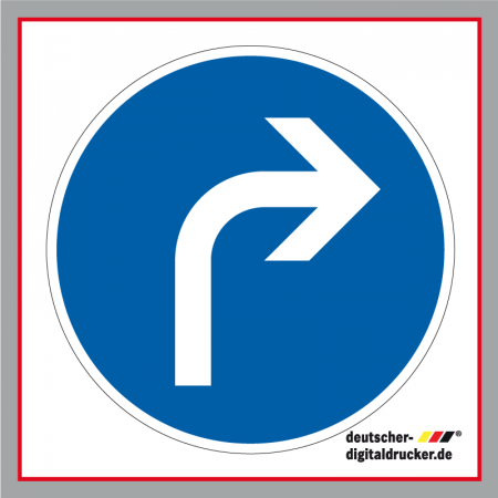 Verkehrsschild / Verkehrszeichen Fahrtrichtung rechts