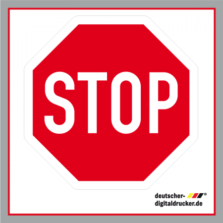 Stopschild Verkehrsschild / Verkehrszeichen