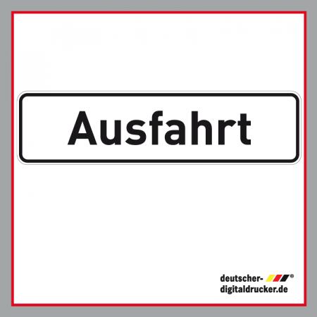 Ausfahrt weiß Verkehrsschild / Verkehrszeichen