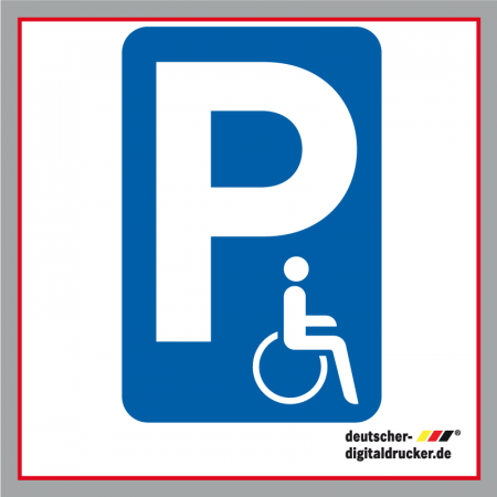 Behinderten-Parkplatz Verkehrsschild / Verkehrszeichen
