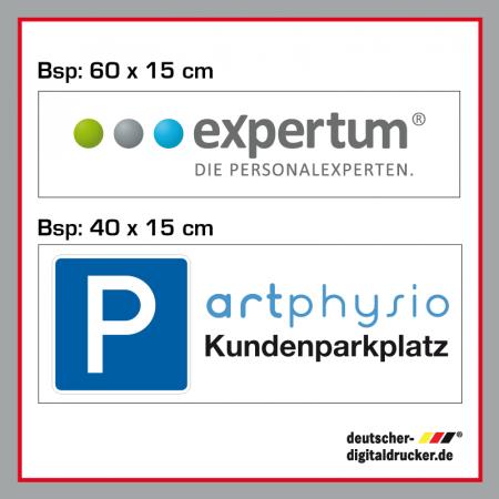 Firmenparkplatz Verkehrsschild / Verkehrszeichen