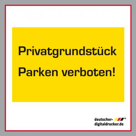 Parken verboten! Verkehrsschild / Verkehrszeichen