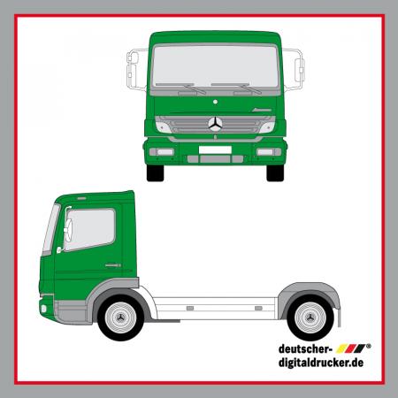 Führerhaus Vollverklebung, Lastwagen Vollverkleben, Folie für LKW, Folierung LKW