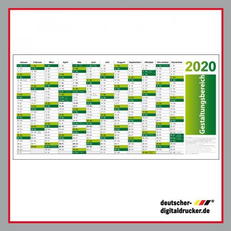 Kalender 2020, Kalender XXL, XXL Kalender, 2020 Übersicht