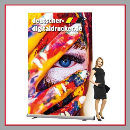 Poster, Roll up, Messestand, Werbeplakat, Standposter, Standplakat, Rollup Kasette