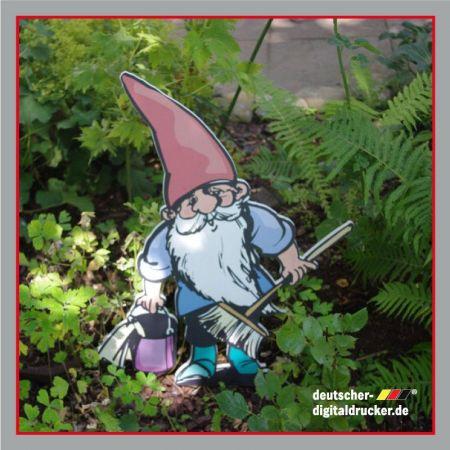 Zwerg mit Pilz, Dekofigur, Gartenzwerg, Gartenfigur, Zwerge im Garten