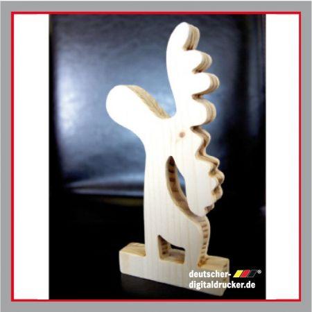Holz Deko Figur, Weihnachtsdeko, Holz-Elch, Elch Figur