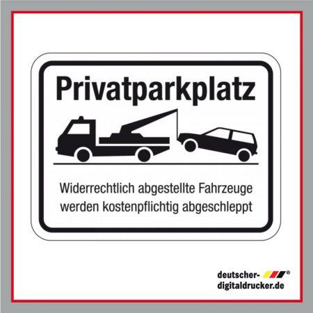 Privatparkplatz Schild, privatparkplatzschild bestellen, Schild für Parkplatz bestellen
