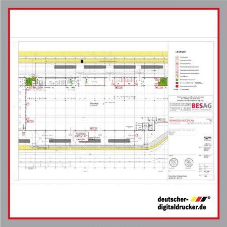 Fluchtplan, Rettungsplan, Parkhausausstattung, Gebäudeausstattung, Gebäudeplan, Infoplan