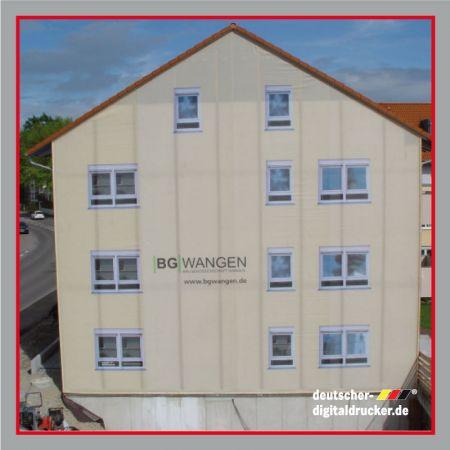 Fassadenplanen, Fassadenplane, Hausumbauplane, Baustellensicherung, Werbeplane groß