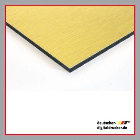 Werbetafeln, Dibond, Aluminiumtafel, Tafel, Schild, Bauschild, stabiles Bild, goldene Tafel, aluminiumgebürstete Optik für Tafel