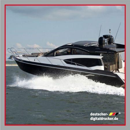 Yachtfolierung, Folierungen für Schiffe, folierung von Booten, Boot individuell gestalten, Folie günstiger als Lack
