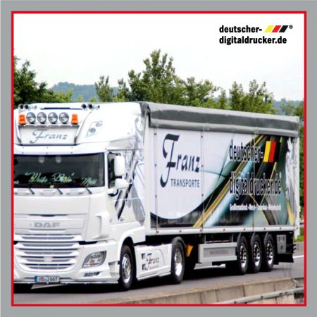Trailer Verkleben, Vollverklebung Lastwagen, Trailerfolie, Lastwagendesign, Amerikanway