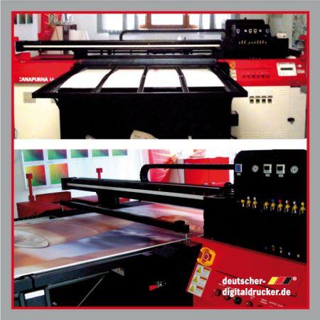 Maschineneinrichtung, Meterstäbe, Direktdruck