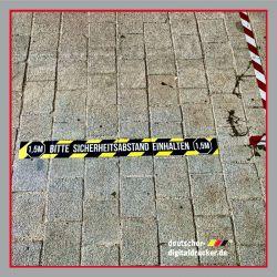 Sicherheitsabstand, Aufkleber Sicherheit, Bodenaufkleber Abstand, Abstandsaufkleber, Abstandsbodenaufkleber