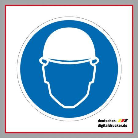 Helmpflicht, Baustellensicherung, Baustellenschilder, Hinweissschilder, Baustellenhinweis