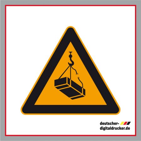 Warnung vor schwebender Last, Baustellensicherung, Baustellenschilder, Hinweissschilder, Baustellenhinweis