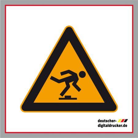 Warnung vor Hindernissen am Boden, Baustellensicherung, Baustellenschilder, Hinweissschilder, Baustellenhinweis