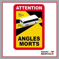Achtung Toter Winkel, Angles Morts Frankreich, Frankreich Kennzeichnung, Kennzeichnung Frankreich LKW
