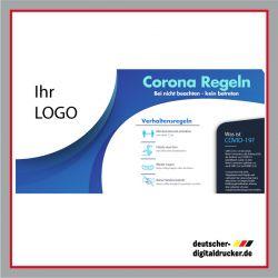 Werbeplane günstig bestellen, Werbeplane günstig kaufen, Corona Plane, geschlossen Plane, Covid Plane, Covid Plakat