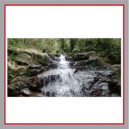 Wasserfall Bauzaunplane