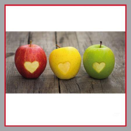 Apfel mit Herz Plane